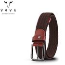 【橘子包包館】VOVA 穿針式皮帶 彈性編織皮帶 VA011-002 穿孔式皮帶