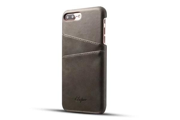 手機配件 適用iphone6真皮手機殼超薄復古牛皮插卡后殼iPhone 6plus保護殼手機殼 手機套 皮套