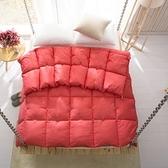 羽絨被 寢具-方格設計舒適蓬鬆白鴨絨雙人棉被3色72aa21【時尚巴黎】