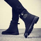 马丁靴  皮鞋 秋季馬丁靴軍靴潮流韓版皮靴高幫男士雪地靴百搭男靴工裝中幫短靴