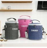 保溫袋 圓形保溫飯盒袋保溫袋大號加厚鋁箔手提便當包上班帶飯包包保溫包 伊蘿鞋包