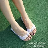純色夏季薄款純棉魚嘴露腳趾船襪