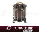 『 e+傢俱 』AF20 潘希 Pansy 新古典設計 收納桶 | 垃圾桶 | 衛生桶 黑檀色 香檳金漆描繪 古典垃圾筒