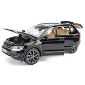 新款仿真大眾途觀L合金車模 1:32越野車SUV男孩回力玩具汽車模型