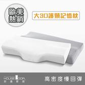 House door 歐美熱銷釋壓記憶枕超吸濕排濕表布大3D護頸型2入月光白