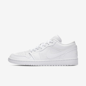 Nike AIR JORDAN 1 LOW [553558-111] 男鞋 經典 喬丹 休閒 穿搭 素面 低筒 緩震 白