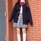 針織外套麻花毛衣開衫女外套寬鬆元氣少女日繫學院風秋季針織衫新款爆 【快速出貨】