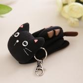 Kiro貓‧小黑貓 立體造型 拉鍊 小物收納包/鑰匙零錢包【221678】