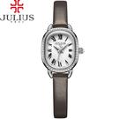 JULIUS 聚利時 繁星圍繞復古設計皮錶帶腕錶-大象灰/20.5X25mm 【JA-986B】