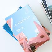 迷霧森林明信片 ins裝飾卡片 西班牙紅墻禮物卡留言賀卡 薔薇海洋
