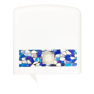 大捲筒衛生紙架方型. 壓克力.白