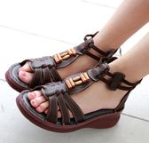 @超贈點2倍抵!MODO雅緻/木飾羅馬鞋/舒適內裡-THE ONE 手工氣墊鞋 (全牛皮)-F52609 咖啡