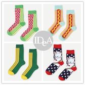歐美潮牌 水果食物中筒襪 全棉 純棉 男女襪子 中筒款 男襪 女襪 夏天 星星  Happy 美式socks