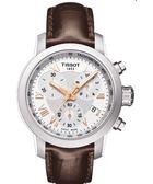TISSOT 天梭 PRC200 ladies 唯美時尚計時手錶-銀X咖啡 T0552171603302