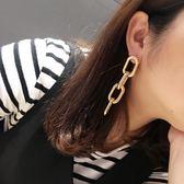 耳環 個性 金屬 鏈條 誇張 鏤空 幾何 耳釘 耳環【DD1607026】 icoca  11/22