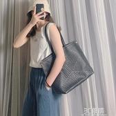 大包包女2020新款潮時尚百搭高級感單肩包大容量托特包洋氣手提包 聖誕節全館免運