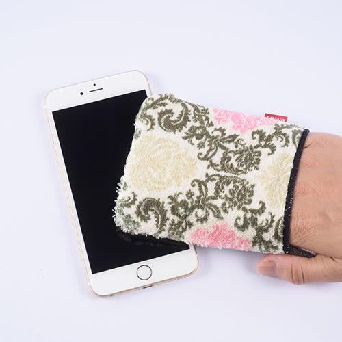 日本製銀抗菌超極細纖維螢幕擦拭套(附魔鬼氈)-粉紅