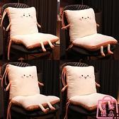 坐墊連體靠墊一體久坐椅子靠背座椅凳子屁股墊超軟加厚【匯美優品】