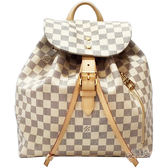 【Louis Vuitton 路易威登】N41578 Sperone 白棋盤格紋後背包(白色)