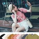 Queen Shop【01038244】基本素面圓領短袖棉T 十色售 S/M/L*現+預*