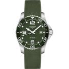 綠水鬼 LONGINES 浪琴 深海征服者浪鬼陶瓷潛水機械錶-綠/43mm L37824069