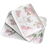 週年慶優惠-運隆家用長方形歐式托盤水杯子茶盤創意密胺餐具盤塑料水果蛋糕盤