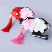中國風格格帽流蘇造型髮夾 兒童髮飾 造型髮夾