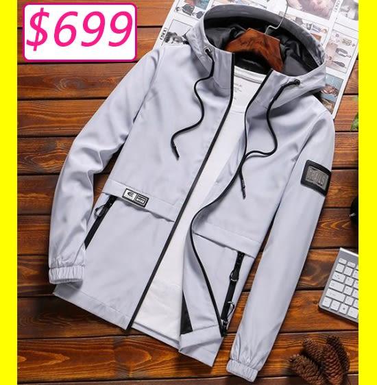 夾克外套男士外套秋季2018新款韓版夾克男外衣服潮流帥氣男裝薄款棒球服
