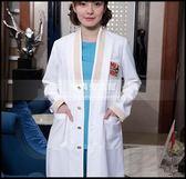 美容院工作服紋繡師白大褂護士服長袖女醫生服皮膚管理中心白大掛LG-881870