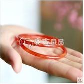 玉鐲 玉髓手鐲極細條冰天然瑪瑙鐲子少女小清新款日韓風文藝玉石手 麥吉良品