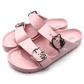 《7+1童鞋》 HELLO KITTY  超輕防水 拖鞋  E012  粉色