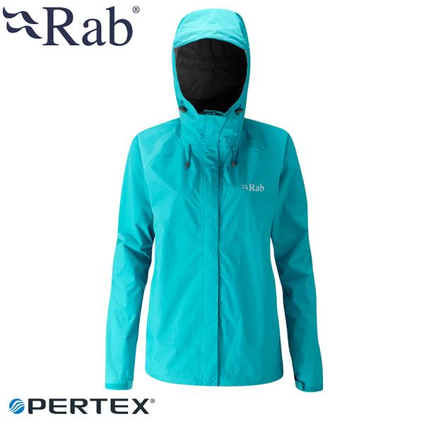 【RAB 英國 女 Downpour防水外套《塔斯曼海》】QWF63/防風外套/防水/連帽外套