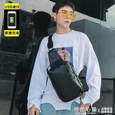 新款街頭韓版胸包休閒腰包潮包 運動單肩包 背包新款後背包斜跨包【怦然心動】