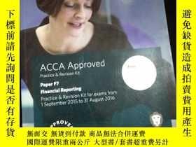 二手書博民逛書店ACCA罕見Approved Practice & Revision Kit Paper F7 Financial
