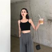 新品秒殺港風短款百搭外穿小吊帶女夏季2019新款修身打底衫簡約背心上衣