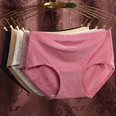 【4條裝】內褲女中腰無痕冰絲透氣性感