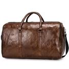 旅行包手提包pu復古短途出差行李包大容量短途行李袋輕便運動健身 ciyo黛雅