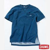 CHUMS 日本 男 Boat LOGO 短袖圓領衫 Indigo丹寧藍 CH001131N030
