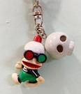 【震撼精品百貨】Curious George _好奇的喬治猴 ~日本喬治猴 吊飾/鑰匙圈-骷顱頭#02329