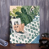 diy數字油彩畫抽象簡約手繪填充涂色數字油畫客廳【左岸男裝】