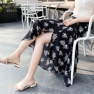 2021春夏新款度假一片裙子系帶碎花半身裙中長款雪紡掛脖式連衣裙 小艾新品