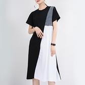 chic時尚撞色拼接洋裝連身裙【13-16-81319-20】ibella 艾貝拉