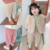 女童褲子小童冬裝嬰兒寶寶洋氣加厚棉褲兒童羊羔毛加絨褲外穿秋冬