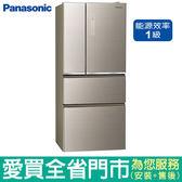 (1級能效)Panasonic國際610L四門玻璃冰箱NR-D619NHGS-N(翡翠金)含配送到府+標準安裝【愛買】