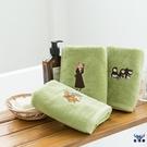 毛巾洗澡刺繡加厚吸水純棉情侶洗臉面巾擦手巾【古怪舍】