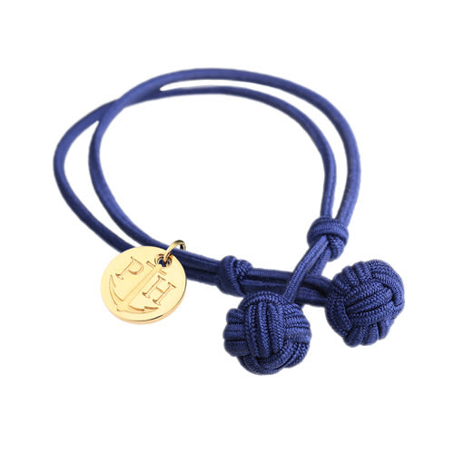 PAUL HEWITT 德國出品 Knotbracelet 海軍藍 繩結 金/銀/玫瑰金吊牌 手環 手鍊 男女皆可配戴