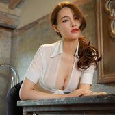 女角色扮演性感制服套裝女秘書透視包臀修身