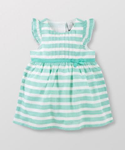 【特惠6折】Hallmark Babies 女童洋裝/連身裙 條紋花邊小飛袖背心連衣裙 HD1-Y13-02-KG-ME