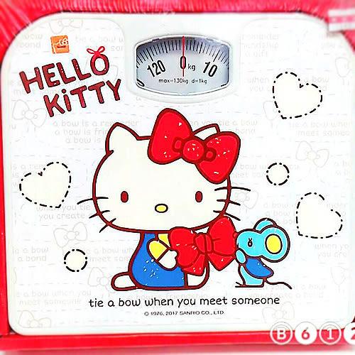 kitty體重計指針款白底側坐163079通販屋