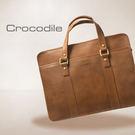 Crocodile Natural Collection 義大利植物鞣原皮 簡約商務包 0104-58072